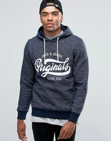 Jack and Jones Hooded Sweat With Front Logo