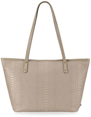 GiGi New York Mini Taylor Python-Embossed Leather Tote