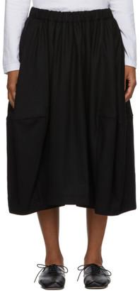 Comme des Garcons Black Wide Side-Seam Skirt