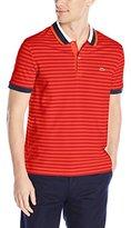 Lacoste Men's Short Sleeve Striped Pique Regular Fit Polo Shirt