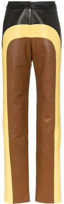 MATÉRIEL colour-block straight-leg trousers
