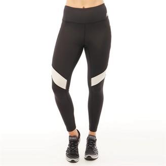 New Balance Womens Deep Waisted Mesh Panelled 7/8 Running Tight Leggings Black/White