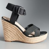 Simply Vera Vera Wang Josephine Women's Espadrille Wedge Sandals