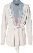 The Elder Statesman cashmere 'Rainbow Gradient' belted cardigan - unisex - Cashmere - M