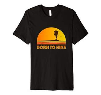 Hiking Shirt Born to Hike T-Shirt Vintage Retro Style
