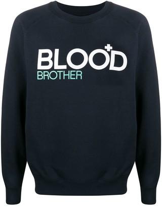Blood Brother Graphic-Print Crew Neck Sweatshirt