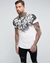 Religion T-shirt With Fading Graphic Print