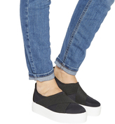 Office Fever Elasticated Slip On Trainers