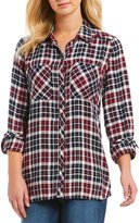 Jessica Simpson Dewi Long-Sleeve Plaid Shirt