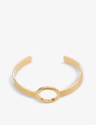 Rachel Jackson Eternity Circle 22ct gold-plated silver bangle