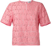 Sonia By Sonia Rykiel - embroidered T-shirt - women - Cotton/Polyamide - 36