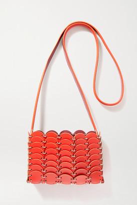 Paco Rabanne Leather Shoulder Bag - Red