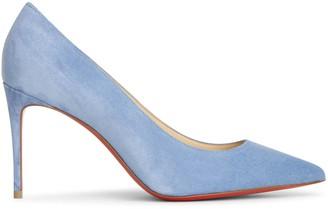 Christian Louboutin Kate 85 jeans blue suede pumps