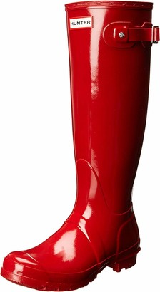 Hunter Tall Gloss Women's Wellington Boots Red (Military Red) 3 UK (36 EU)