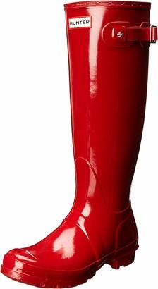 Hunter Tall Gloss Women's Wellington Boots Red (Military Red) 4 UK (37 EU)