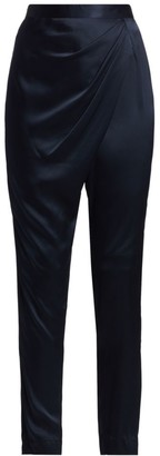 Mason by Michelle Mason Draped Silk Pants
