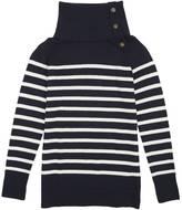 Nautica Buttoned Funnel Neck Sweater