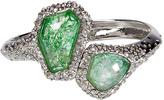 Alexis Bittar Crystal Encrusted Imitation Sage Quartz Bracelet