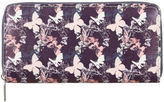 Yours Clothing Yoursclothing Plus Size Womens Faux Leather Butterfly Print Zip Purse Ladies