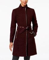 Vince Camuto Faux-Leather-Trim Bouclé Coat