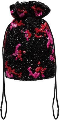Ganni Sequinned Clutch Bag