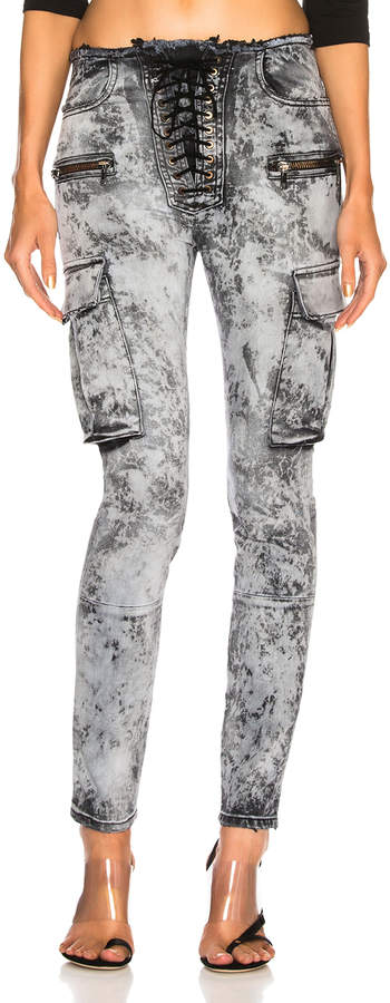 Unravel Cloudy Cargo Lace Up Skinny