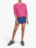 Hush Cotton Leopard Print Shorts, Leopard Blue