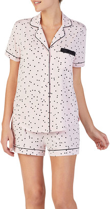 Kate Spade Evergreen Scattered Dot Short Pajama Set