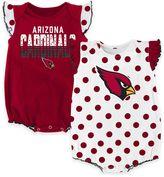NFL Arizona Cardinals Polka Fan Size 18M 2-Piece Creeper Set
