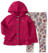 Calvin Klein Two-Piece Fleece Hooded Jacket and Leggings Set