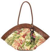 Patricia Nash Cuban Tropical-Print Dome Leather Tote