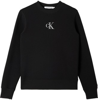 Calvin Klein Jeans SilverCK Cut Out Back Crew Neck - Black