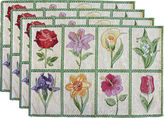 Park B Smith Park B. Smith Floral Tiles Set of 4 Placemats