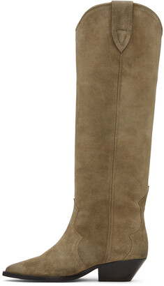 Isabel Marant Taupe Denvee Tall Boots