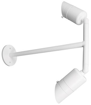 W.A.C. Lighting 2-Light LED Outdoor Armed Sconce Fixture Finish: Architectural White, Color Temperature: 4000K
