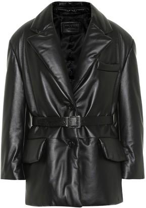 Prada Padded leather blazer