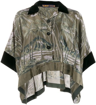 Sacai Foliage-Print Loose-Fit Shirt