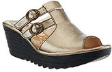 Fly London Slide Wedge Sandals with Buckle Details - Yawe