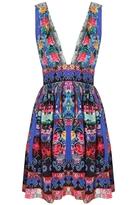 Camilla Pretty Precession V Neck Short Dress