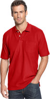 John Ashford Short Sleeve Pocket Pique Polo Shirt
