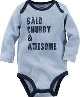 Carter's Long-Sleeve Gray Chubby Slogan Bodysuit - Baby Boys newborn-24m