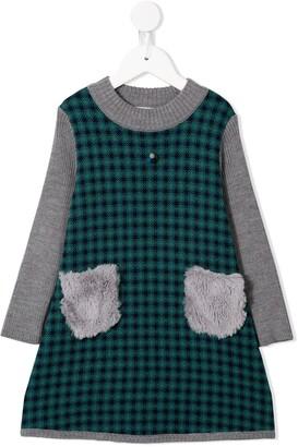 Familiar Panelled Check Dress