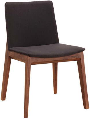 Moe's Home Collection Set Of 2 Deco Dining Chair Black