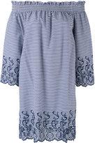 P.A.R.O.S.H. short striped off the shoulder dress - women - Cotton/Polyamide/Spandex/Elastane/Polyester - S