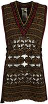 Fendi Embroidered Knitted Vest