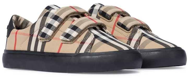BURBERRY KIDS Vintage Check canvas sneakers
