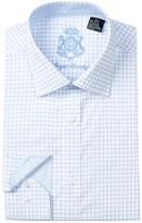 English Laundry Windowpane Check Trim Fit Dress Shirt