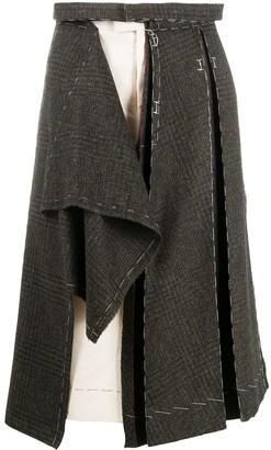 Maison Margiela Panelled Asymmetric Skirt