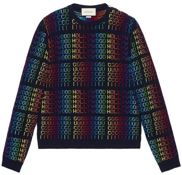 Gucci Rainbow Hollywood sweater