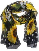 Dolce & Gabbana Sunflowers Printed Silk Scarf